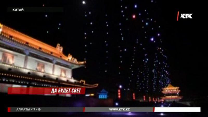 1374 дрона поднялись в воздух  в Китае