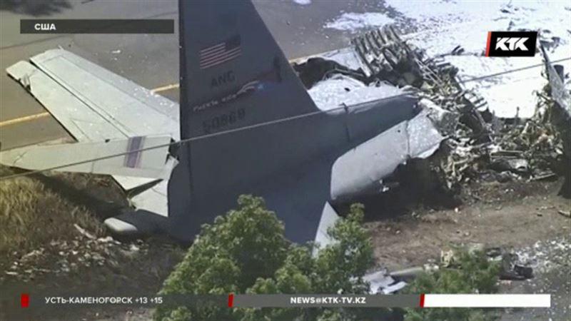 С-130 Hercules рухнул прямо на автомагистраль