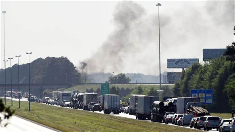 Опубликовано видео пожара на химическом заводе в США
