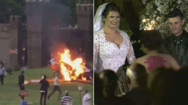 В Бразилии на свадьбе упал вертолет с невестой