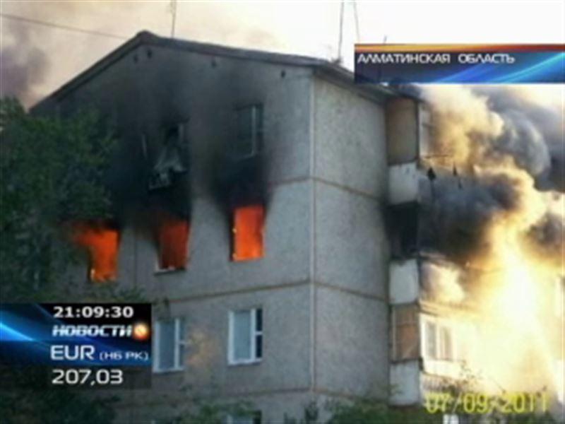 В Талдыкоргане в квартире многоэтажки взорвался газ