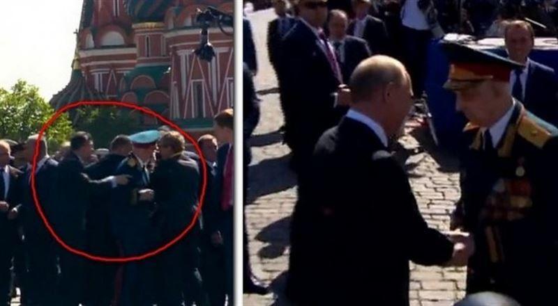 ВИДЕО: Оққағарлары итеріп жіберген ардагерді Путин өзімен бірге алып кетті