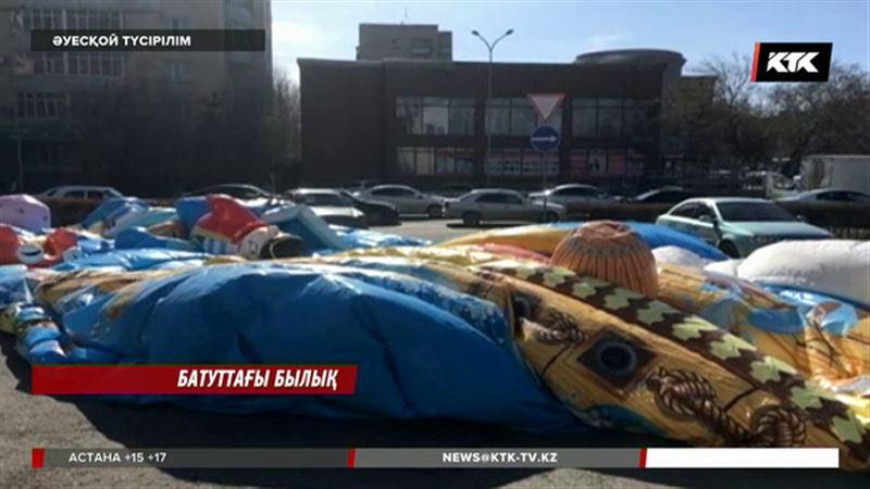 Астанада батуттың астында қалған бала әлі өлім аузында жатыр