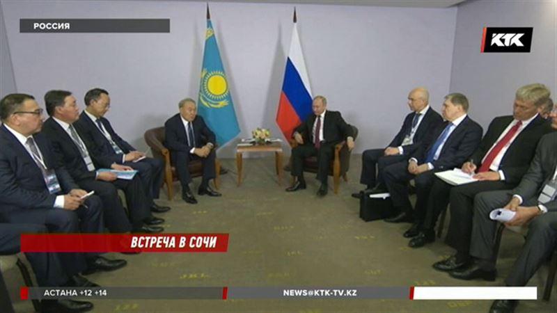 Нурсултан Назарбаев и Владимир Путин встретились в неформальной обстановке