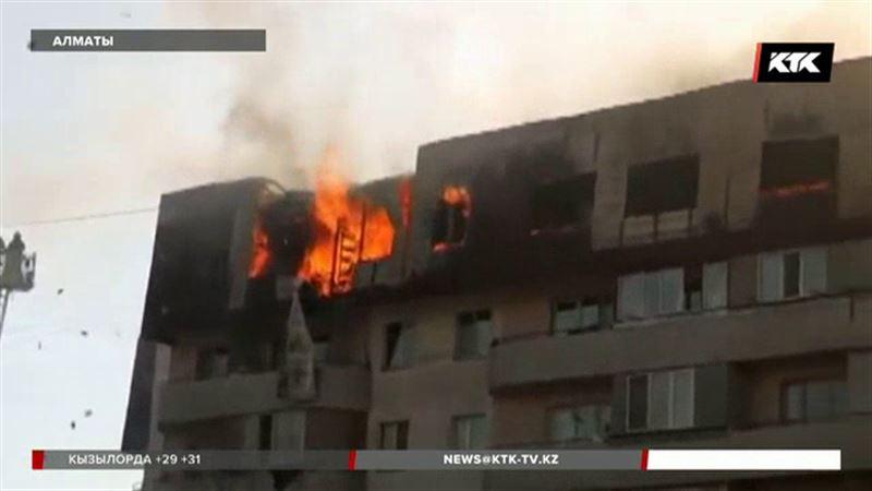 Дом в Алматы вспыхнул из-за непотушенной спички