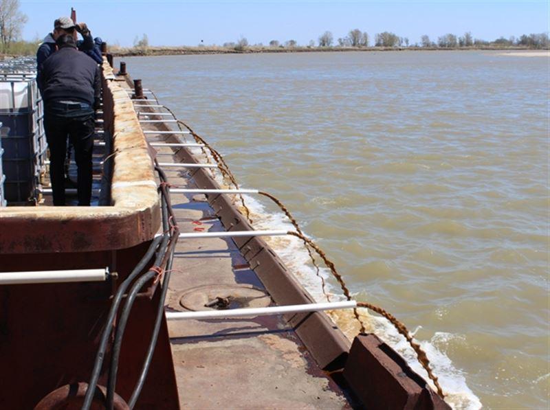 Ертіске 23 тонна бактицид төгілді