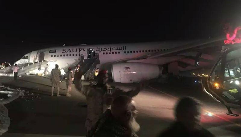 Пассажирский самолет без шасси приземлился в Саудовской Аравии
