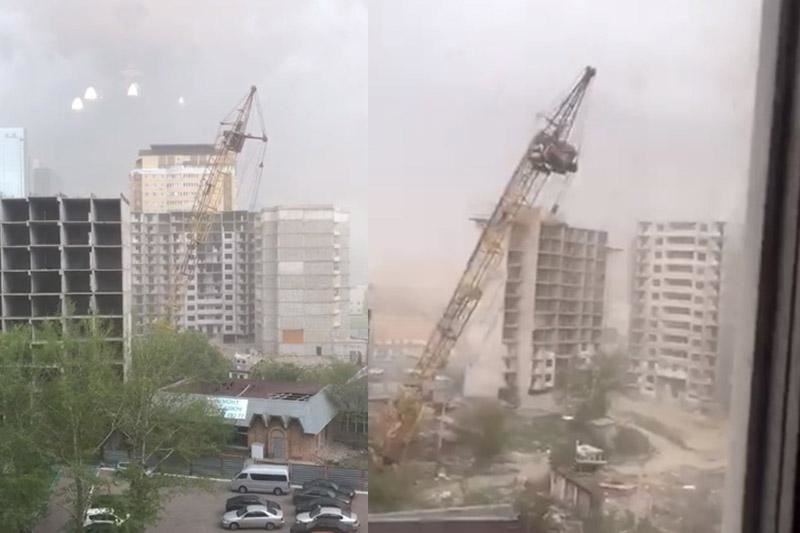 Шокирующие кадры: На Астану обрушились сильный дождь и шквалистый ветер