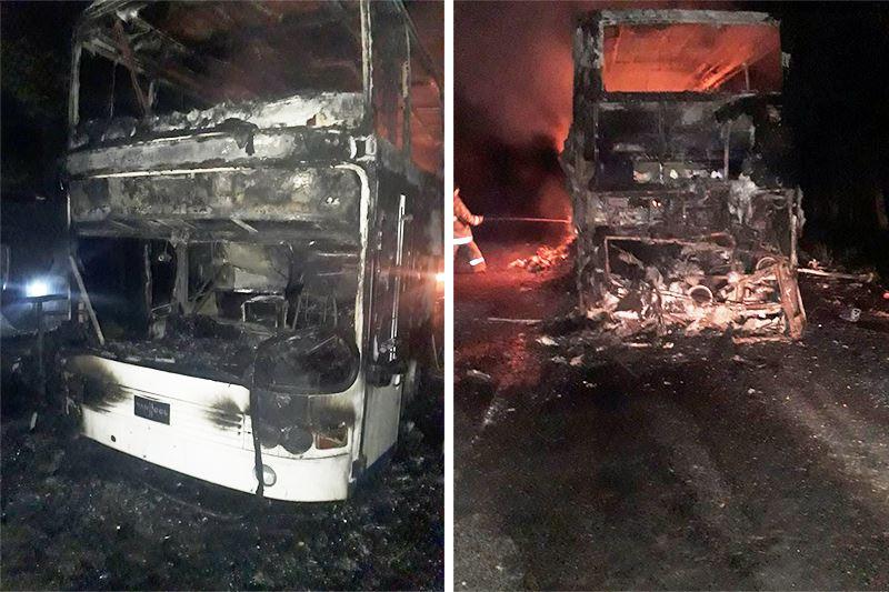 Алматы облысында жолаушылар автобусы жанып кетті