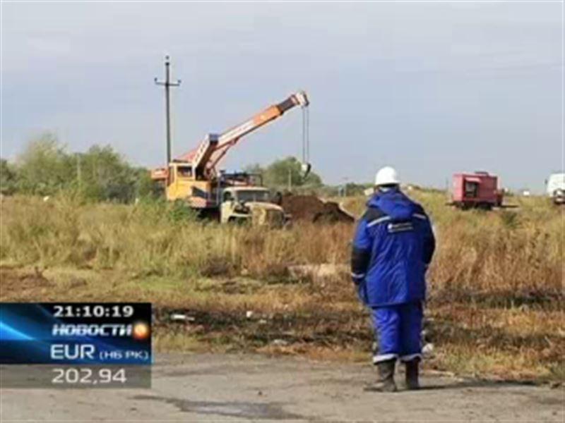 В Петропавловске ликвидировали аварию на транзитном нефтепроводе