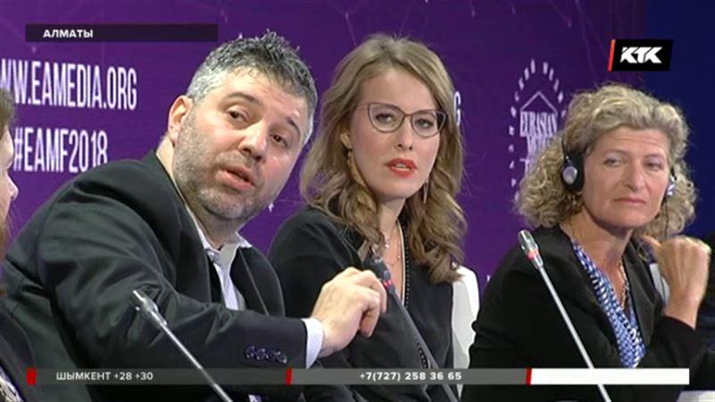Собчак на медиафоруме в Алматы: «Мужчина должен следить за словами и руками»
