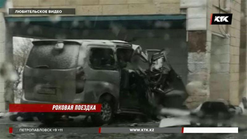 На трассе Кокшетау - Астана погибли двое пассажиров частного такси