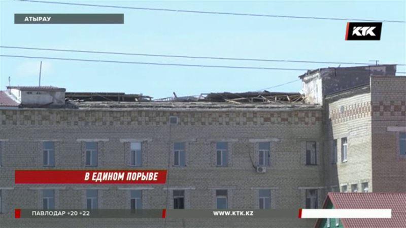 Атырауский ураган снес крыши с тубдиспансера и сельского акимата