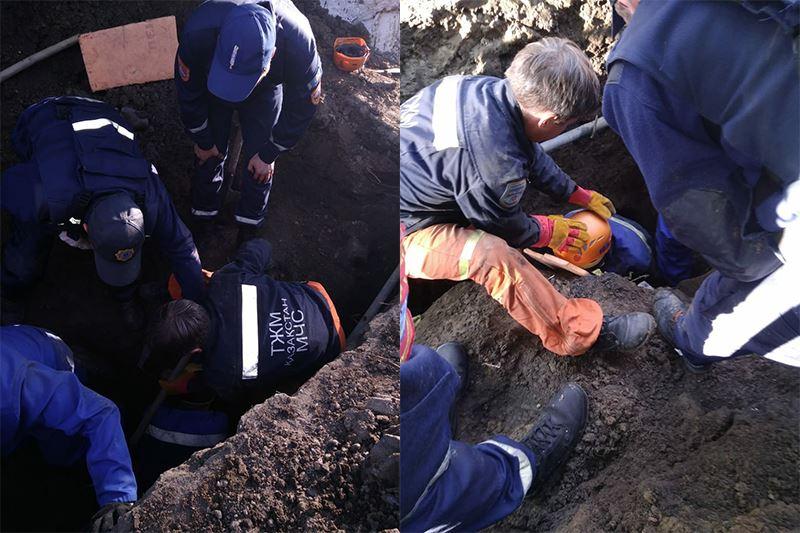 Өскемендік жұмысшы топырақтың астында қалды