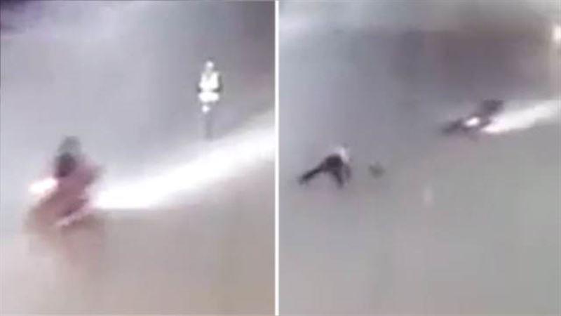 Видео: Мотоциклист сбил инспектора ГИБДД