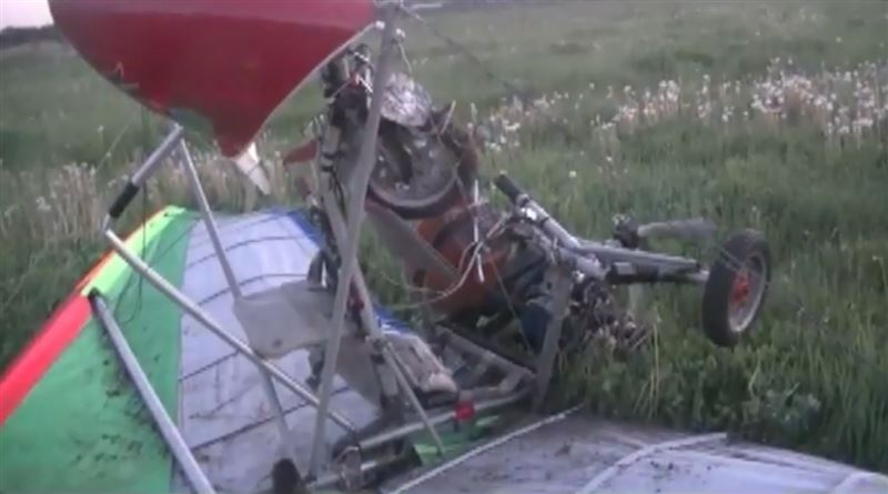 В Смоленской области дельталет упал почти сразу после взлета