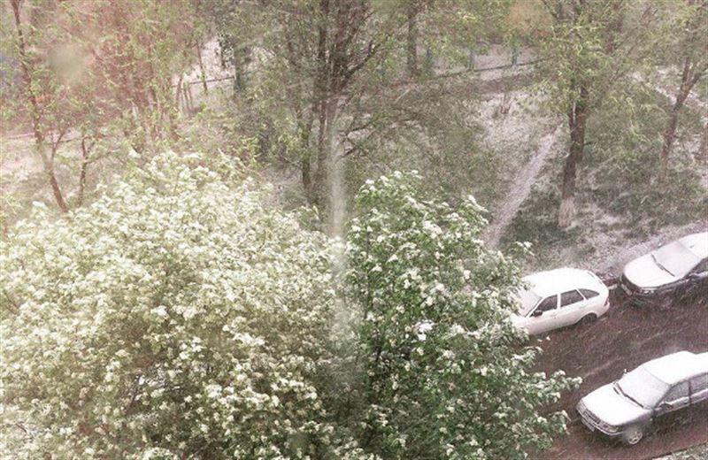 Жителей Татарстана удивил июньский снег