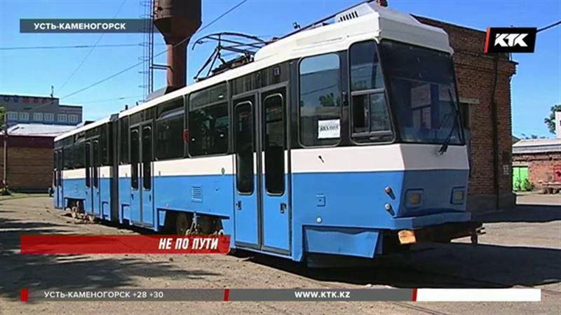 Печально известные алматинские трамваи в Усть-Каменогорске сломались