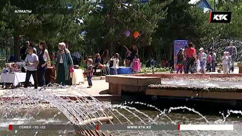 В Алматы поздравили детей