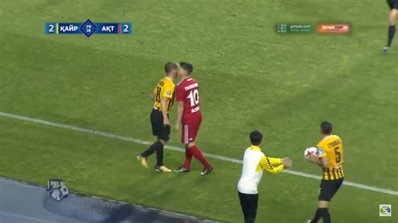 Аршавин вступил в конфликт с соперником на матче чемпионата Казахстана