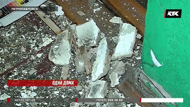 Пенсионерка из Петропавловска едва спаслась во время обрушения потолка