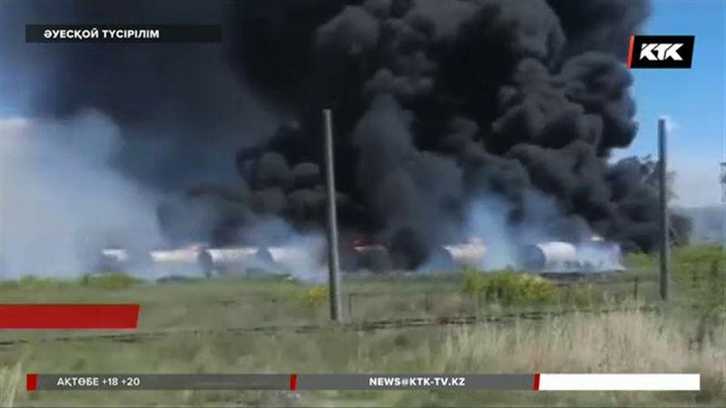 Қарағанды облысында мұнай базасынан өрт шықты