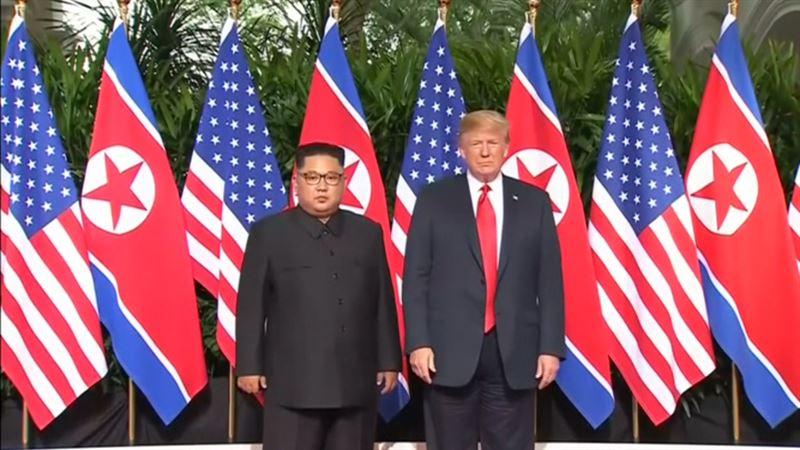 ВИДЕО: Сингапурда  Дональд Трамп пен Ким Чен Ынның кездесуі өтті