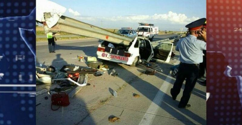 ВИДЕО: Шымкенттегі жантүршілерлік жол апатының видеосы жарияланды