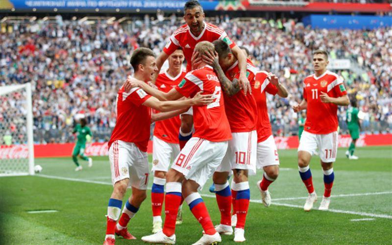 В первом матче ЧМ-2018 российские футболисты разгромили Саудовскую Аравию - 5:0