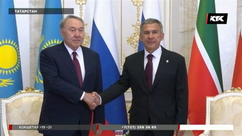 В Ораза айт президент Назарбаев посетил Казань