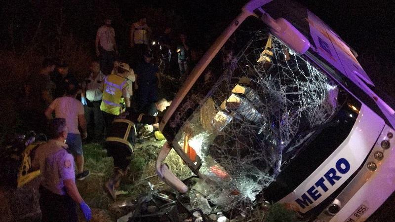 Во время аварии с автобусом в Турции пострадали не менее 45 человек
