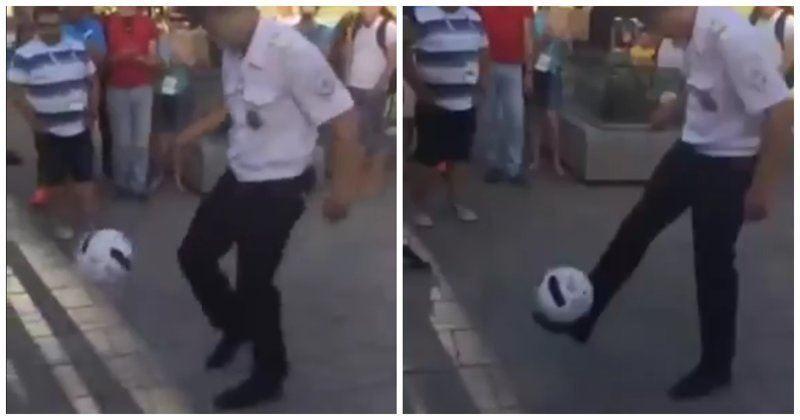 ВИДЕО: Әлем Чемпионатында Ресейлік полицей қонақтарды таңқалдырды