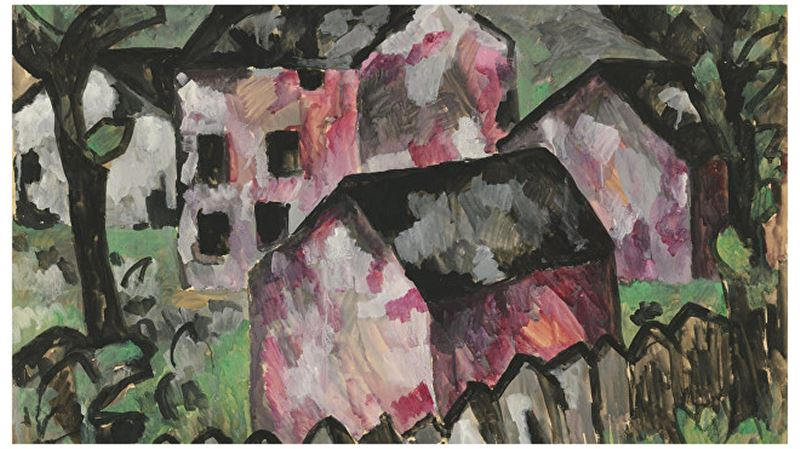 Бумажный «Пейзаж» Малевича продали на аукционе в Лондоне за $10 миллионов