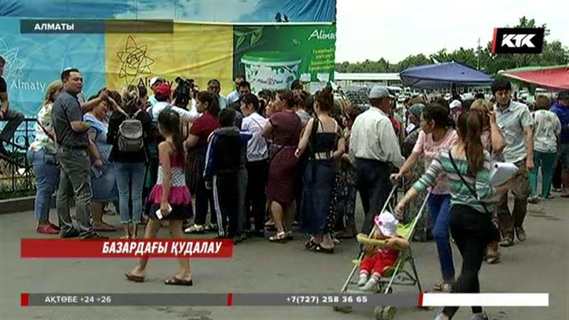 Алматыда Саяхат базарының саудагерлері айқайға басты