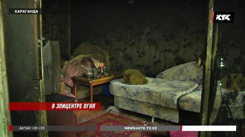 В Караганде при пожаре погибли отец и его 5-летний сын