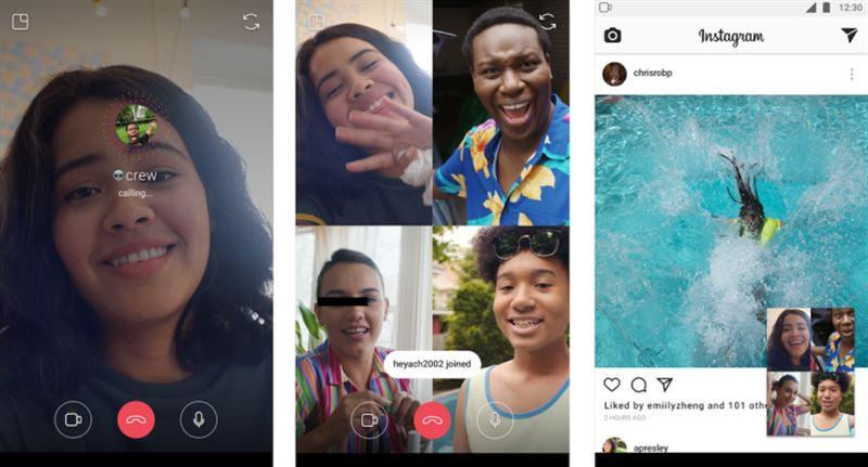 Instagram ввел видеочат на четверых участников