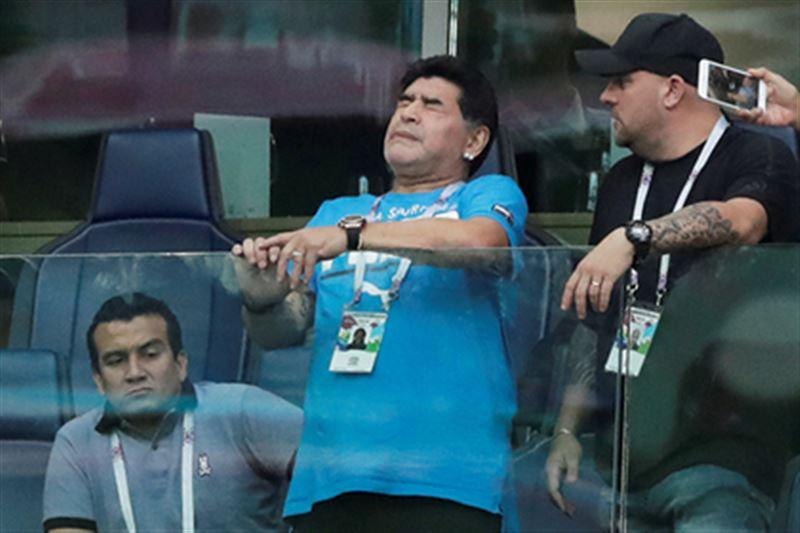 Марадона рассказал о своем здоровье после матча Аргентины и Нигерии