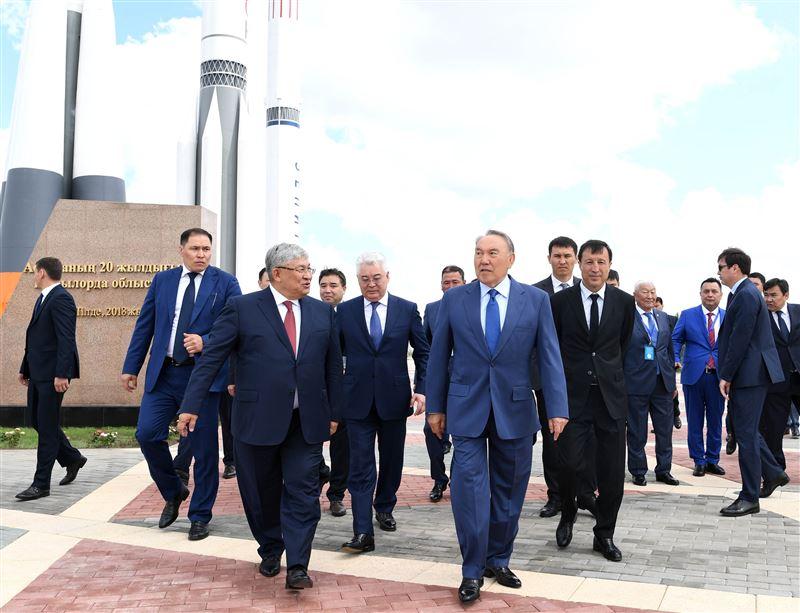 Нурсултан Назарбаев осмотрел открытую экспозицию музея ракетно-космической техники