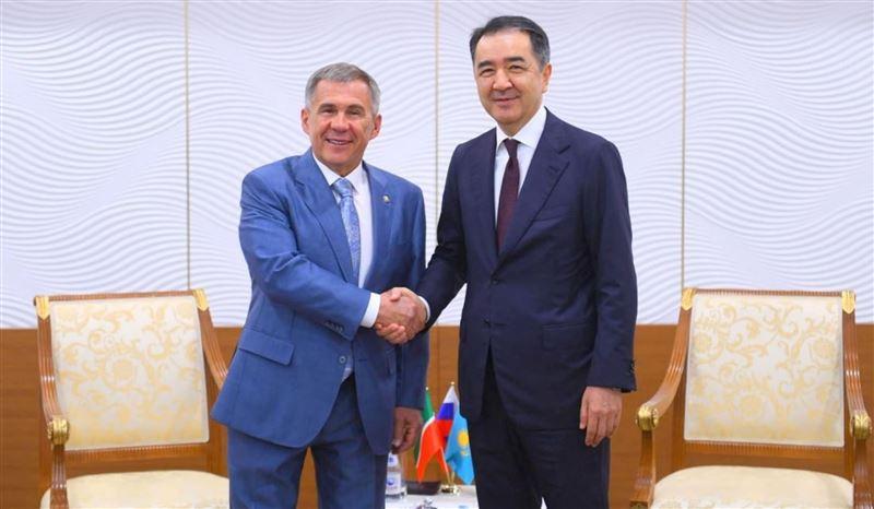 Премьер Казахстана и глава Татарстана обсудили торгово-экономическое сотрудничество