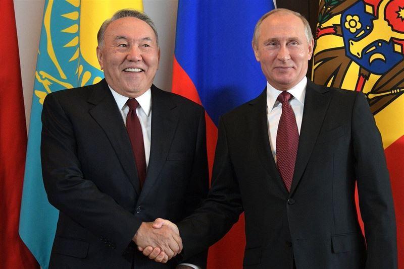 Владимир Путин направил Нурсултану Назарбаеву поздравительную телеграмму
