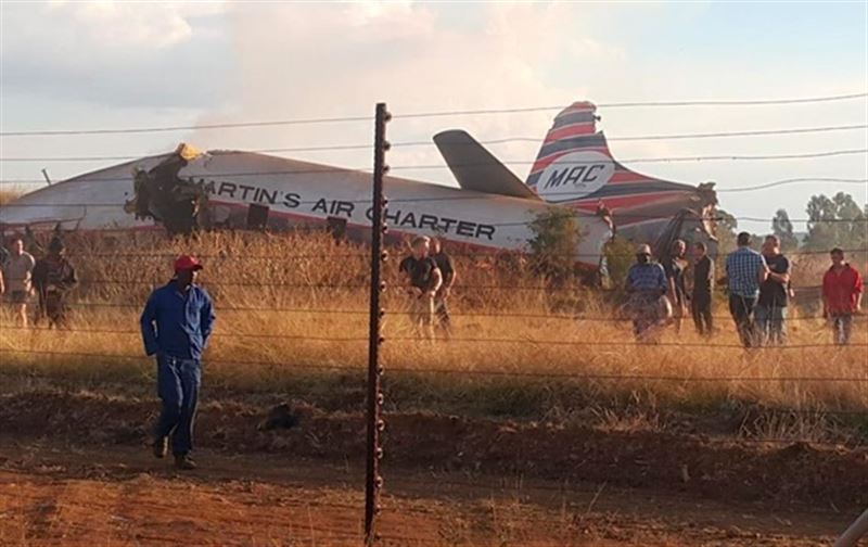 Появилось видео с места крушения пассажирского самолета в ЮАР