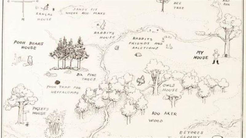 Карта Винни-Пуха ушла с молотка на аукционе за 430 000 фунтов