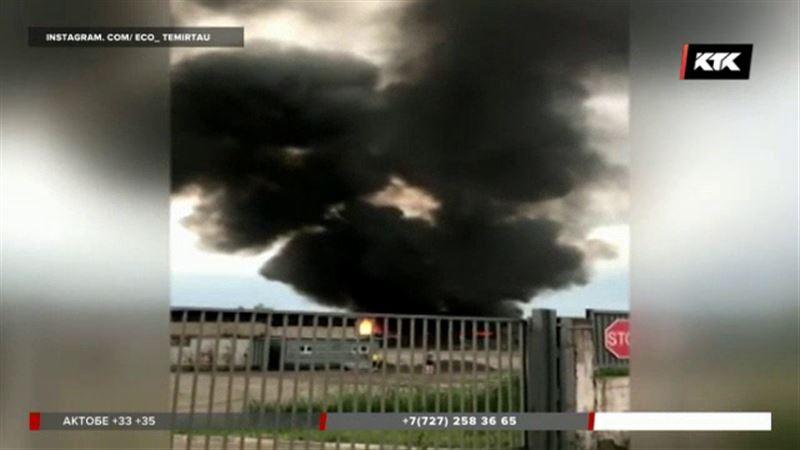 Шахтёрский городок оказался в дыму