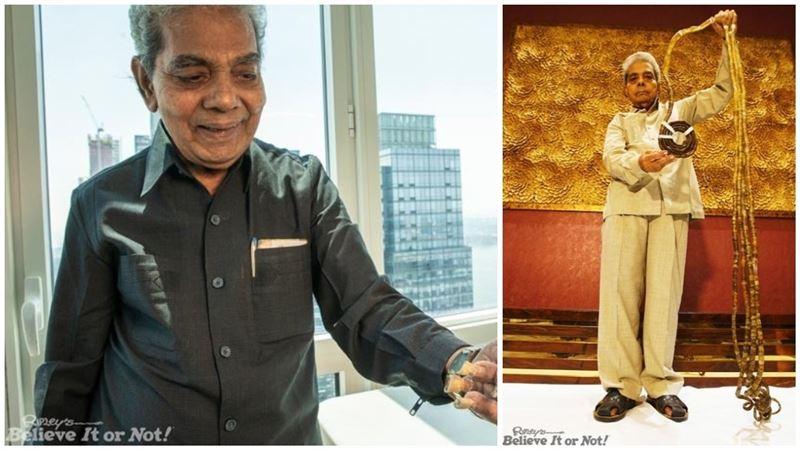 Индиец с самыми длинными ногтями обрезал их спустя 66 лет отращивания