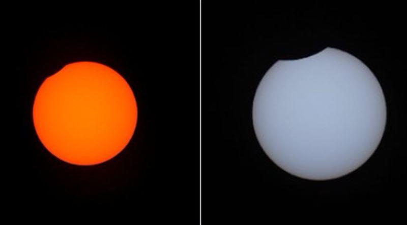 В Сети публикуются снимки уникального солнечного затмения суперлуной
