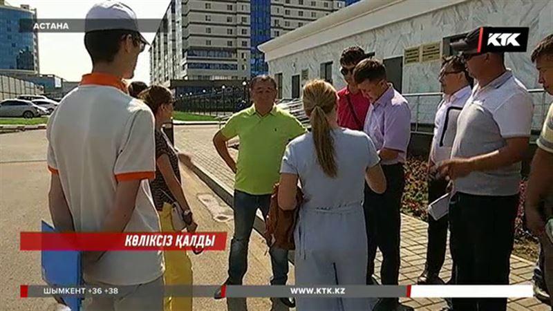 Астанада қымбат көлігінен айрылған жүргізушілер шу шығарды