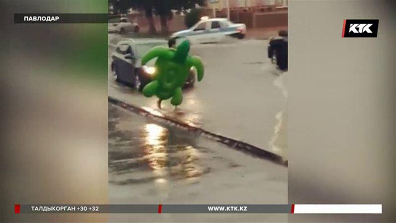 Павлодар затопило