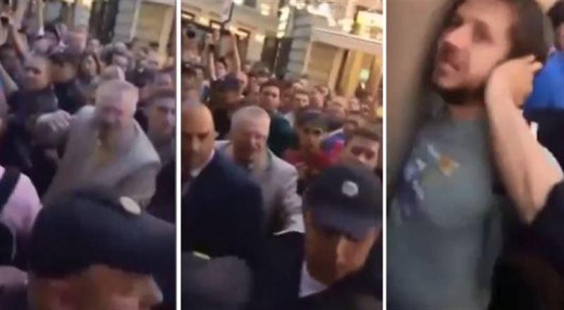 Болельщик облил Жириновского пивом и получил 14 суток административного ареста