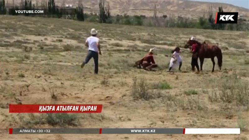 Қырғызстанда милиция  бүркітке таланған қыздың өзін айыптады
