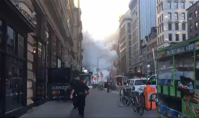 На Манхэттене в результате взрыва паровой трубы пострадали 5 человек